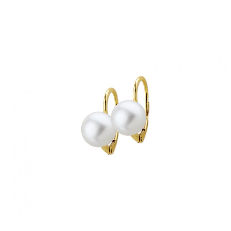 Gouden parel oorbellen