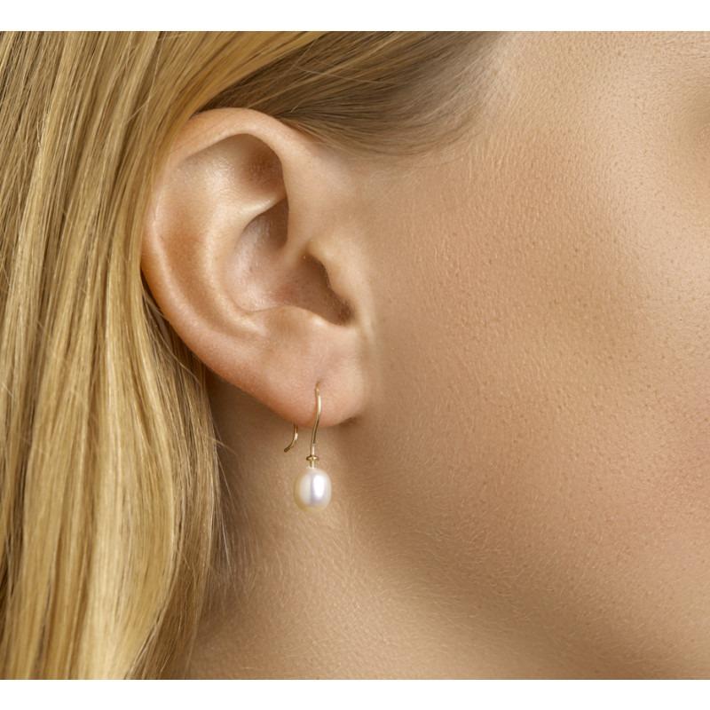 Parel oorbellen van goud 14-karaat