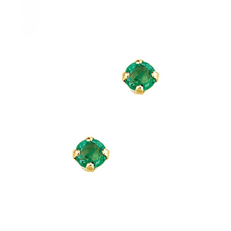 Smaragd oorknoppen van goud