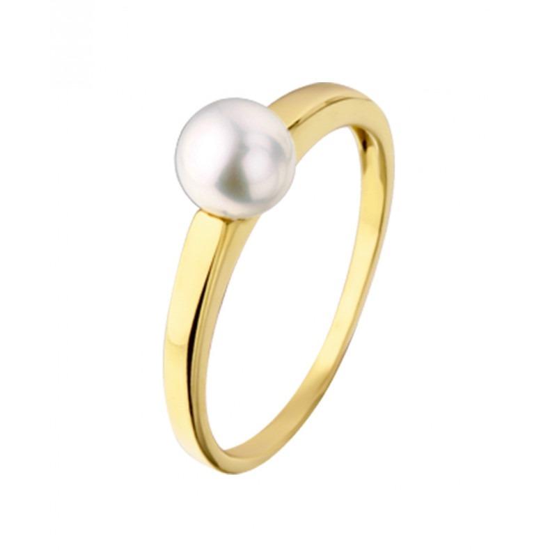 Subtiele gouden ring met parel