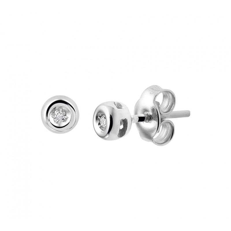 Diamanten oorbellen knopjes 2 mm