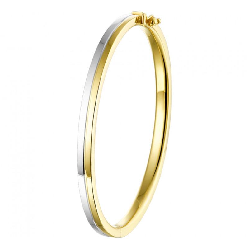 Bicolor gouden slavenarmband elegant ontwerp