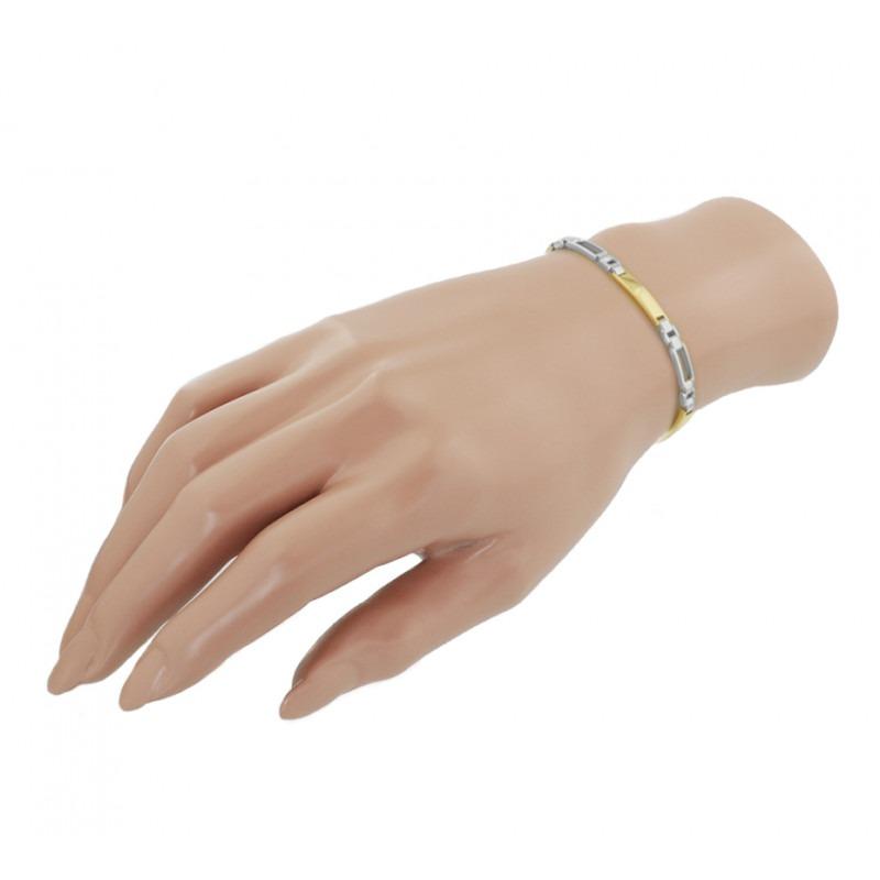 Bicolor schakelarmband voor vrouwen