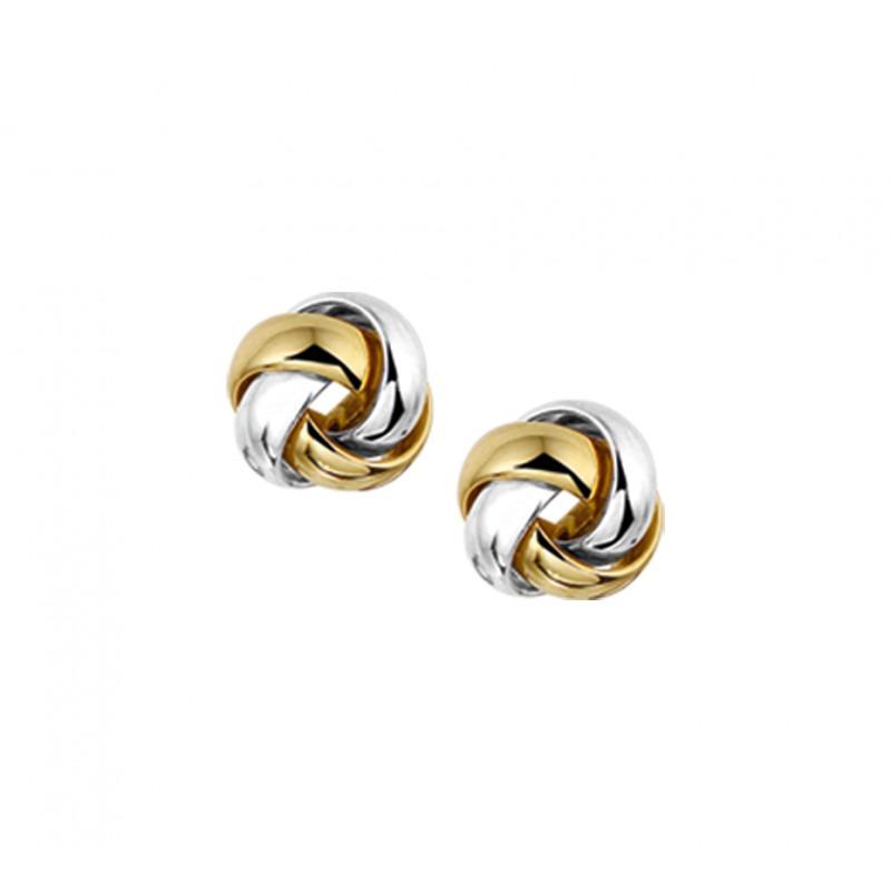 Gouden oorknopjes witgoud geelgoud