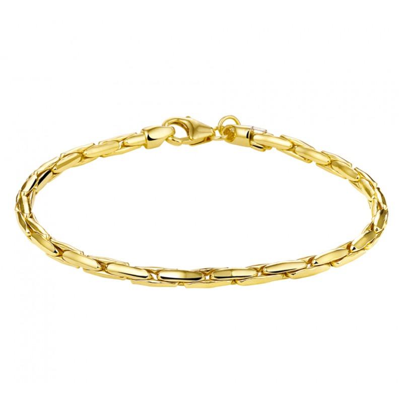 Gouden armband met cardano schakels