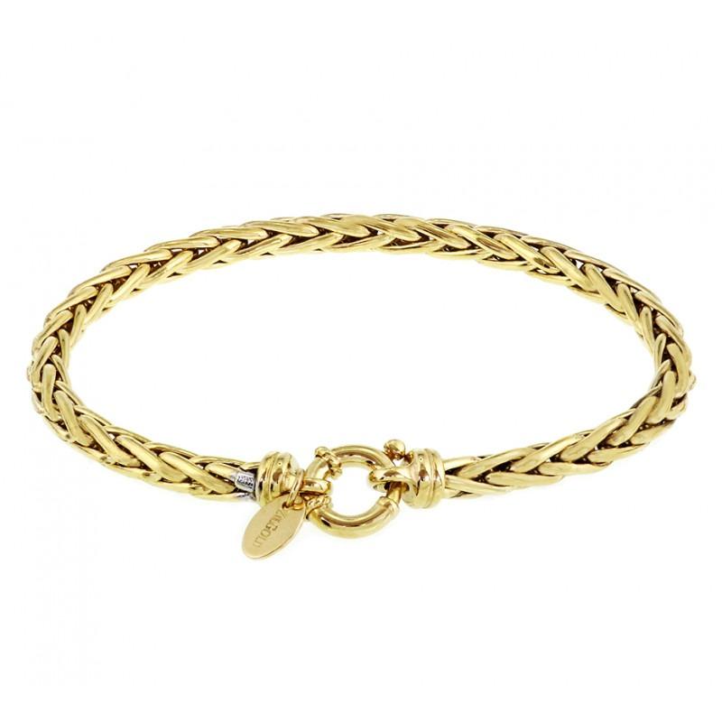 Gouden armband voor dames met Palmier schakels