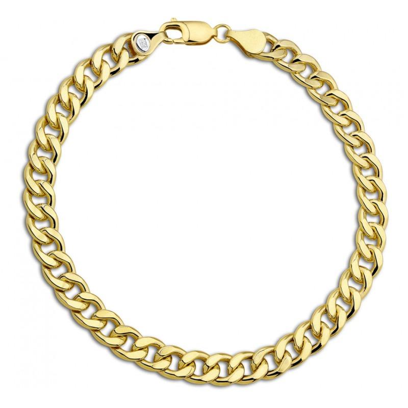 Gouden armband voor heren met Gourmet schakels