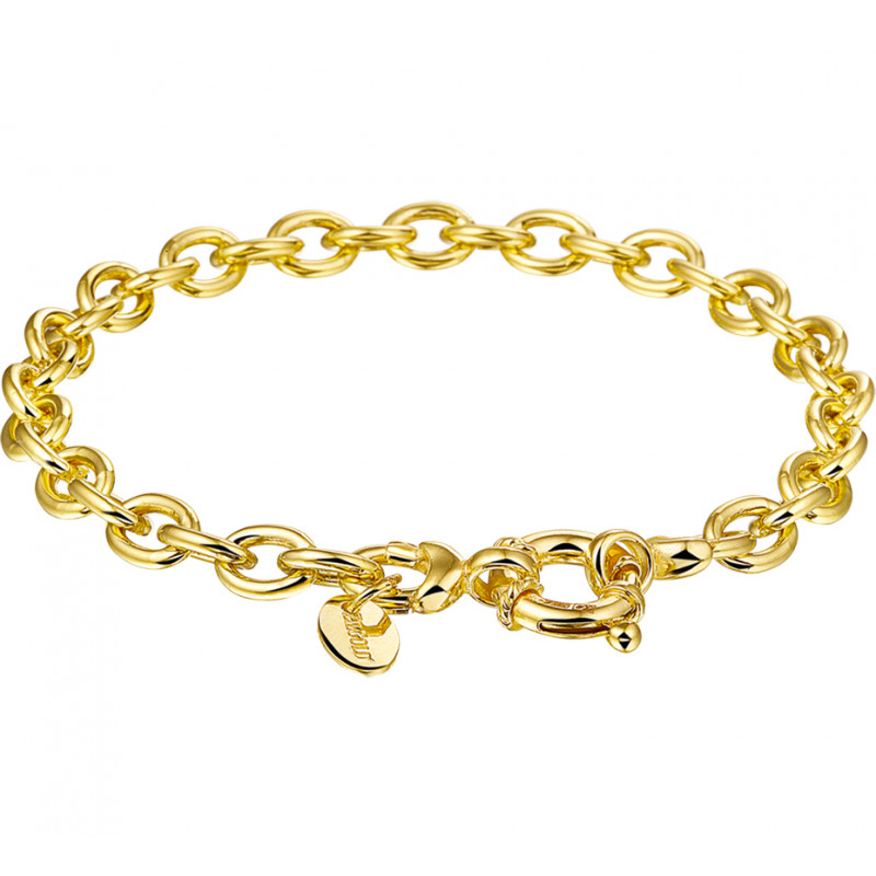 Gouden damesarmband met anker schakels