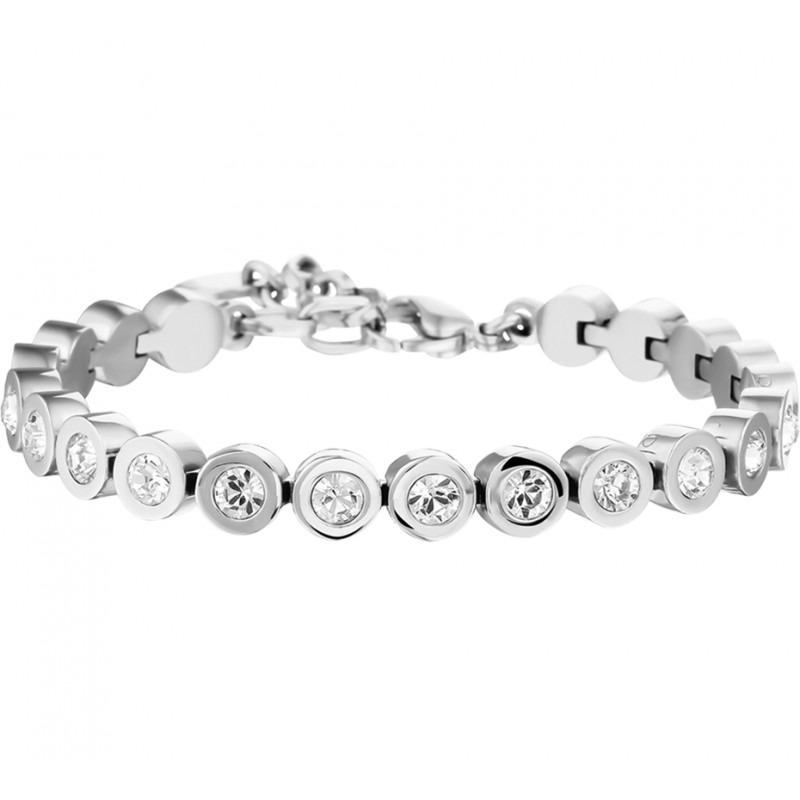 Edelstalen tennis armband met kristal 20 cm