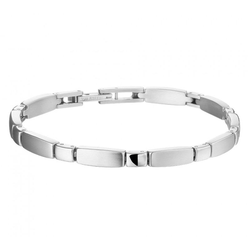 Stalen fantasiearmband dames 19 cm | Mostert Juweliers