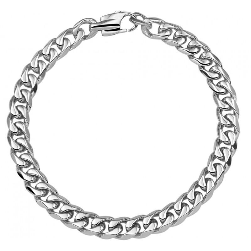 Stalen heren gourmet schakelarmband 21 cm