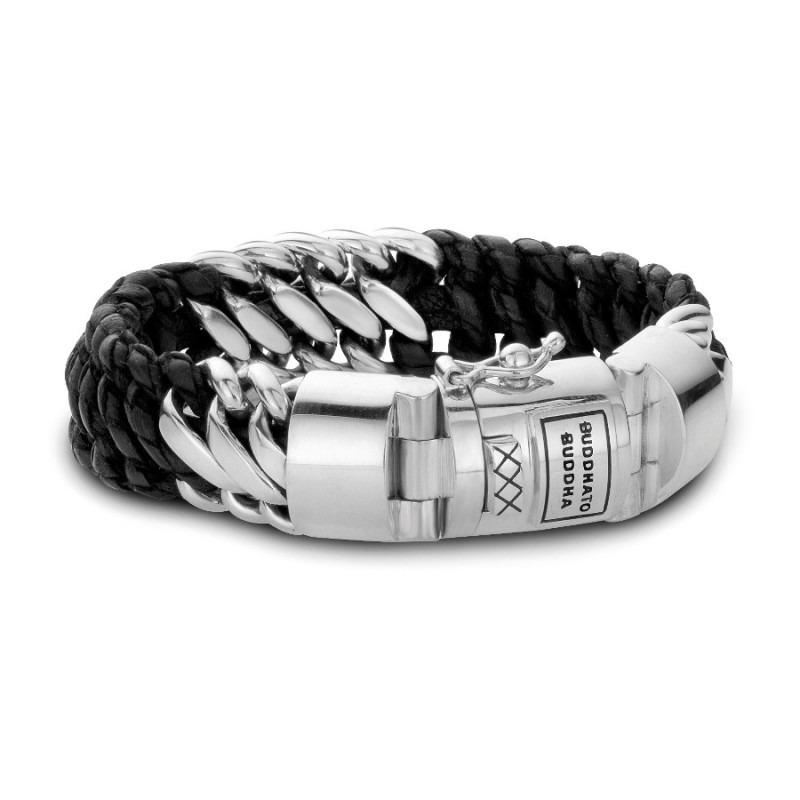 Buddha to Buddha 815 Armband Ben Mix Silver Leather