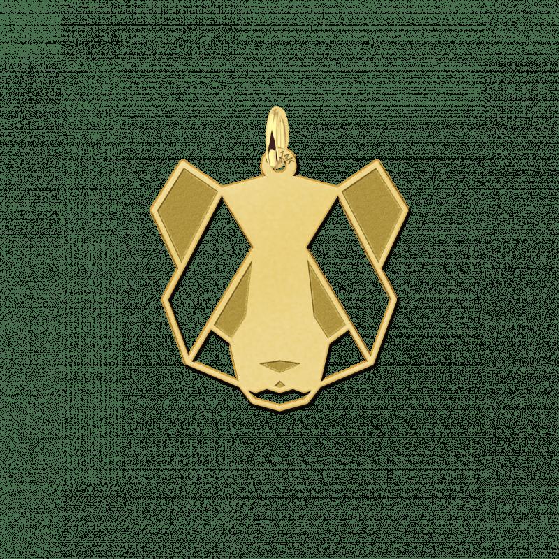 Geometrische hanger goud panda
