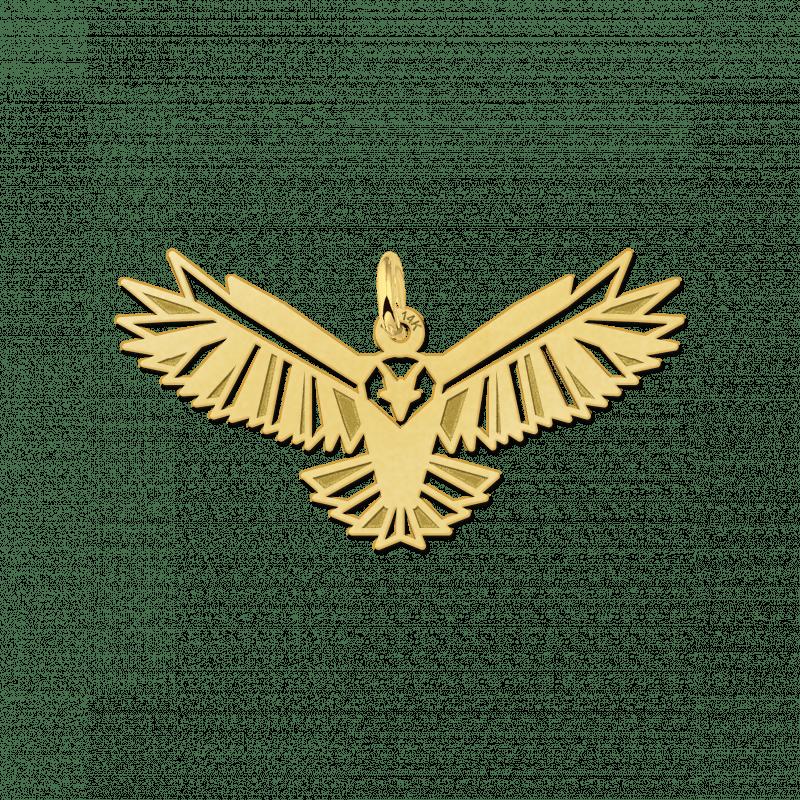 Geometrische hanger van goud adelaar
