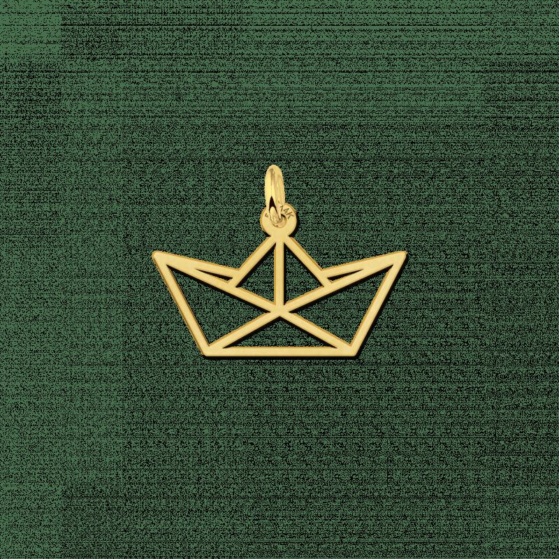 Geometrische hanger van goud boot