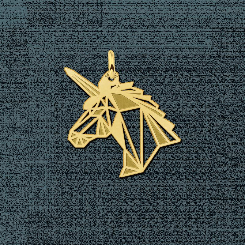 Geometrische hanger van goud eenhoorn
