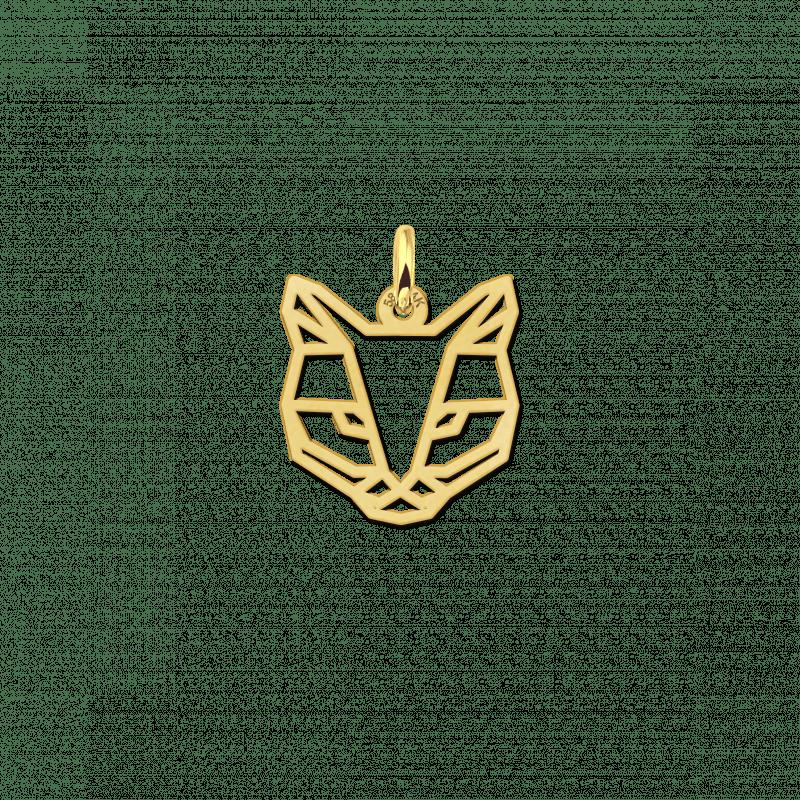 Geometrische hanger van goud kat