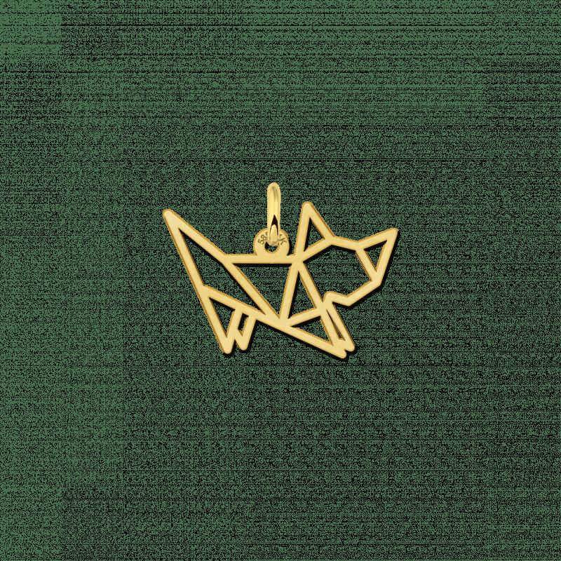 Geometrische hanger van goud kitten staand