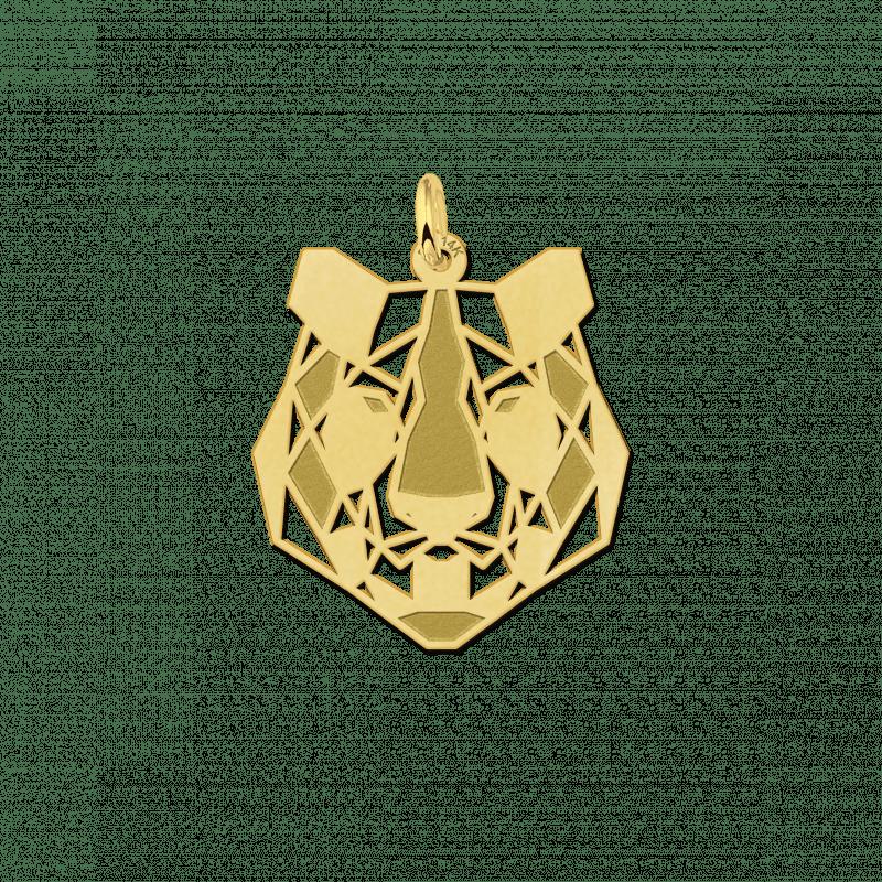 Geometrische hanger van goud tijger