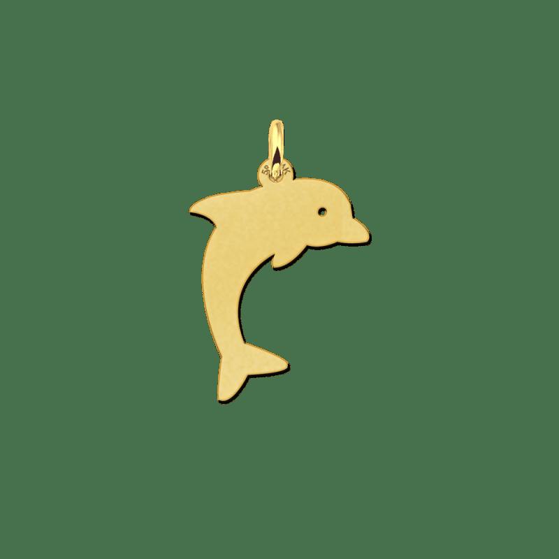 Gouden dolfijn hanger