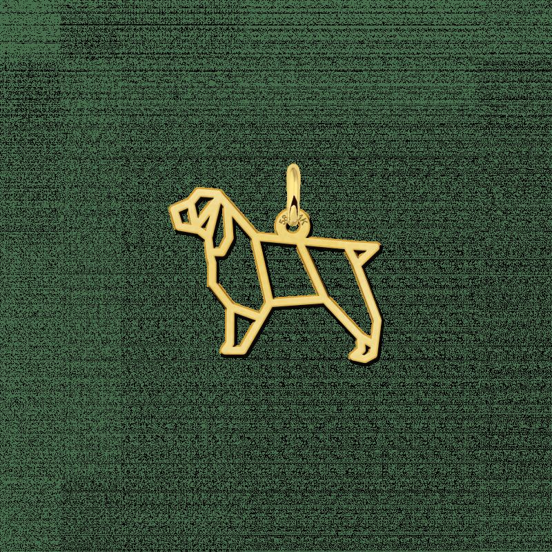 Gouden geometrische hanger Cocker Spaniel