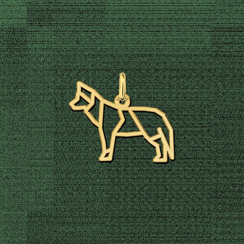 Gouden geometrische hanger Husky