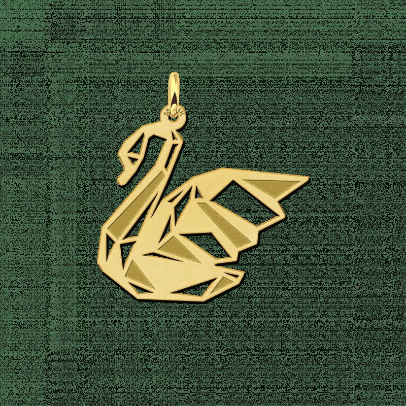 Gouden geometrische hanger zwaan