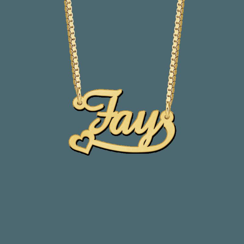 Gouden naamketting voorbeeld Fay