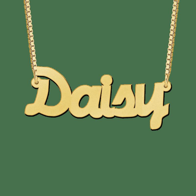 Ketting met naam goud voorbeeld Daisy