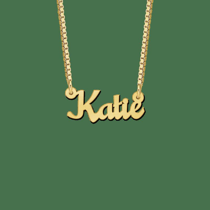 Ketting met naam van goud kids voorbeeld Katie
