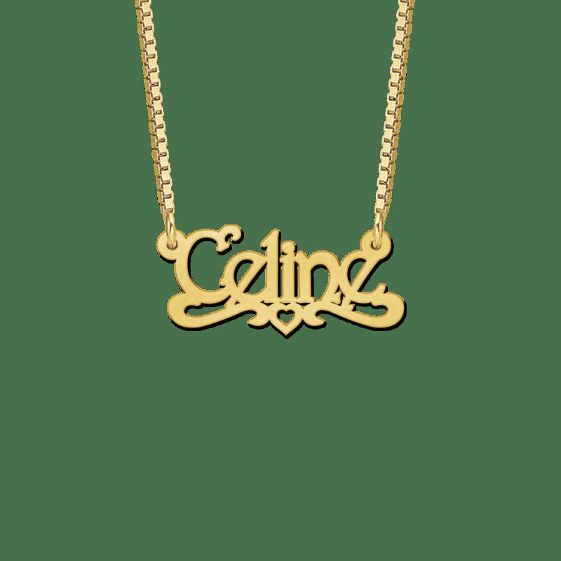 Naamketting van goud kids voorbeeld Celine