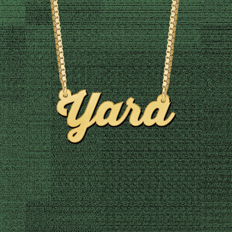 Naamketting van goud voorbeeld Yara