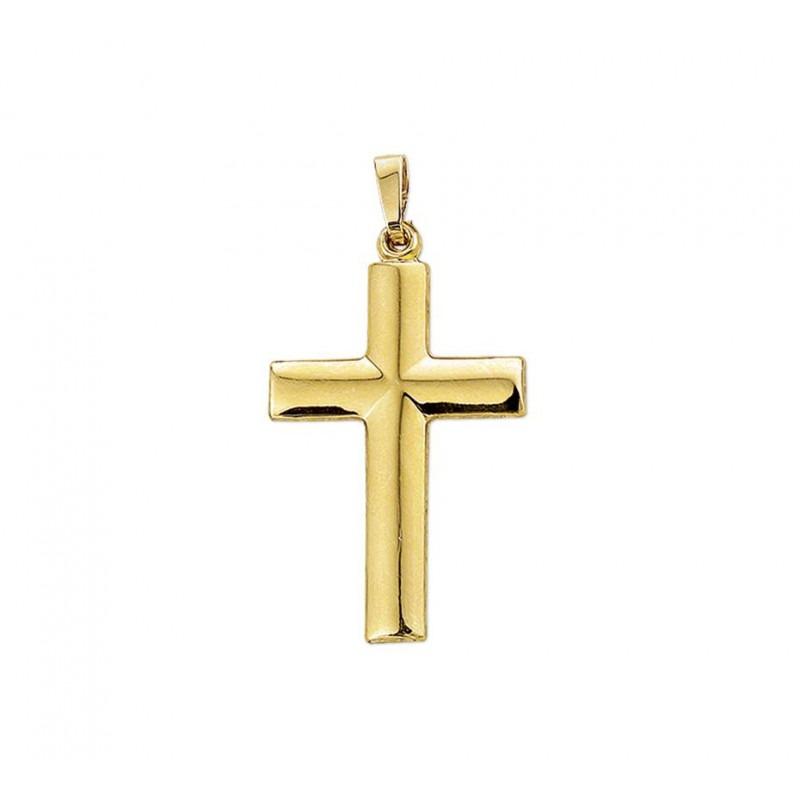 Gouden hanger kruis groot glanzend