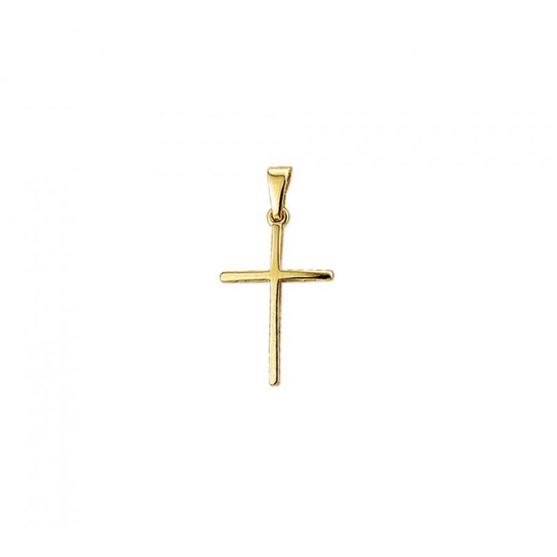 Gouden kruisje 14-karaat massief en glanzend