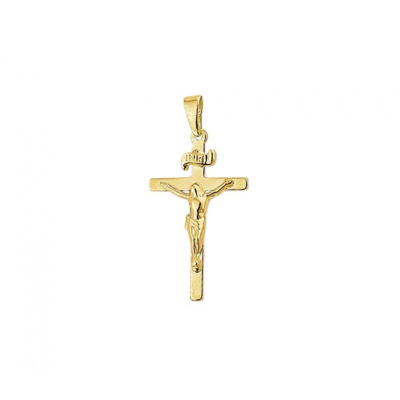 Gouden kruisje 14-karaat met corpus