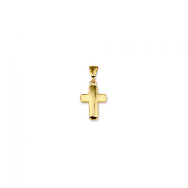 Gouden kruisje bol glanzend 12 mm
