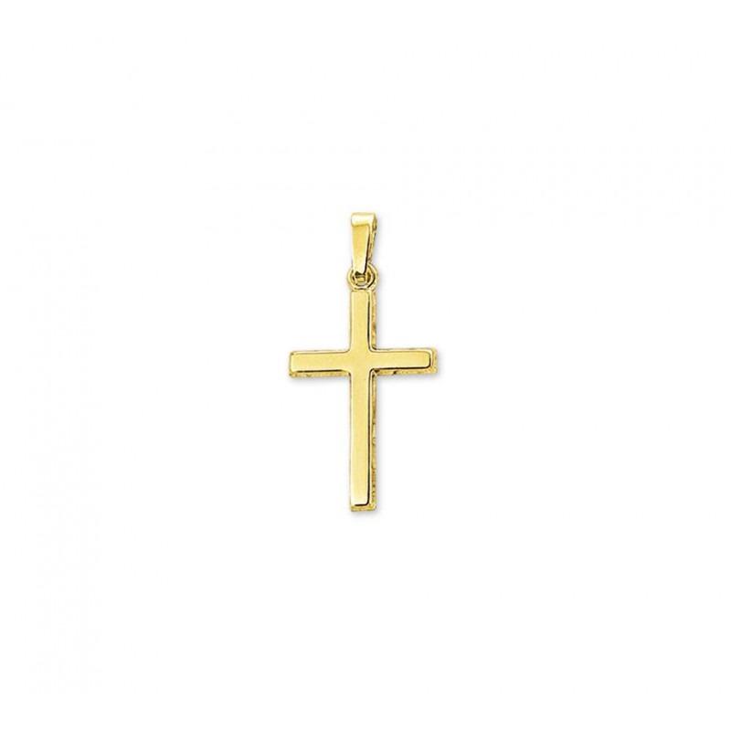 Gouden kruisje strak en glanzend
