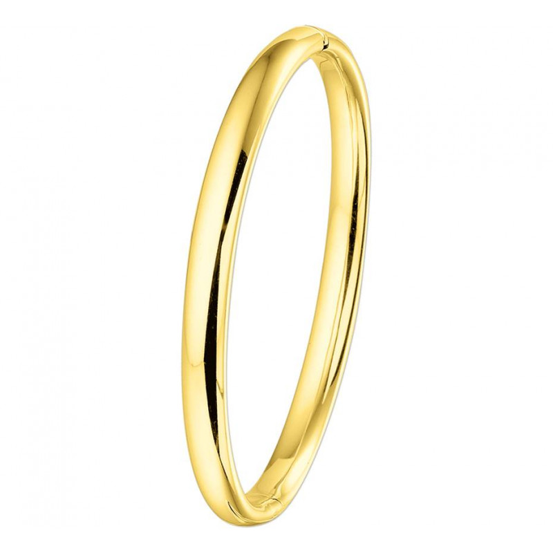 Gouden ovale slavenarmband 6 mm