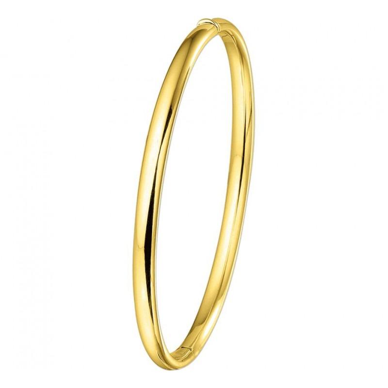 Gouden slavenarmband ovaal 4 mm en 60 mm doorsnede