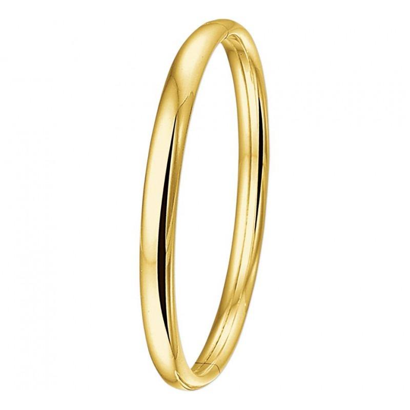 Gouden slavenarmband ovaal 6 mm