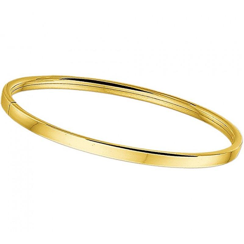 Gouden slavenarmband vlak 4 mm