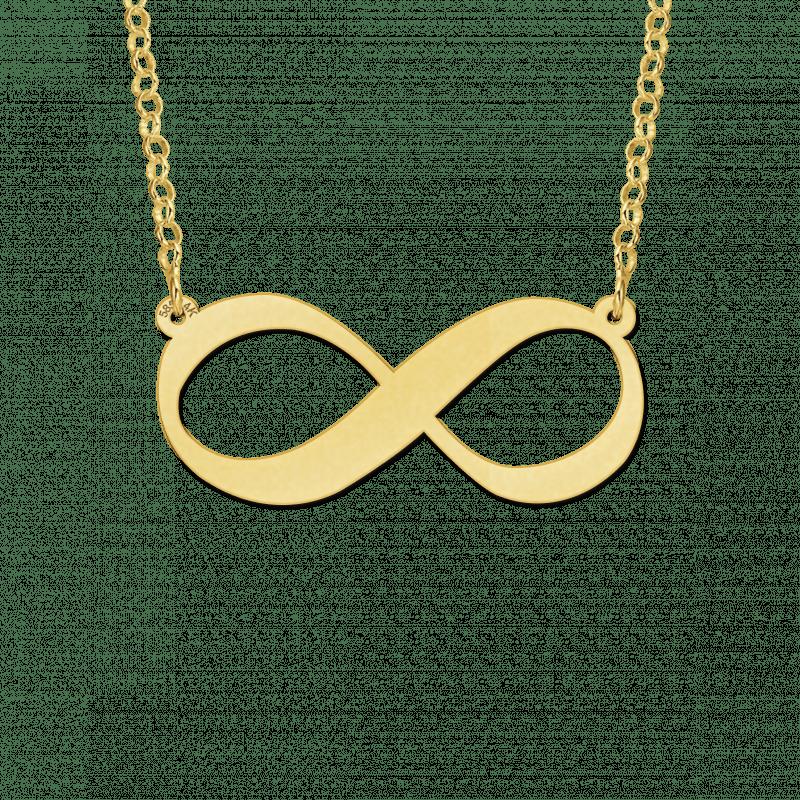 Gouden infinity ketting