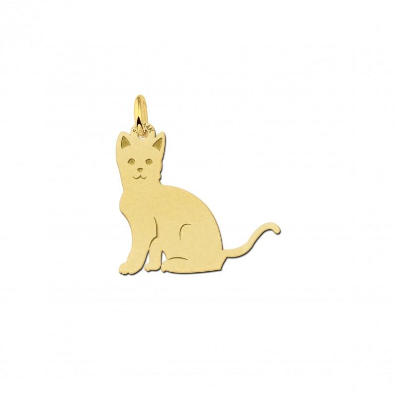 Gouden kat hanger