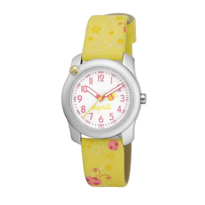 Esprit lucky Love geel kinderhorloge ES103514008