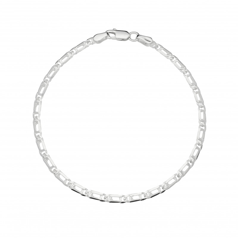Armband met valkenoog schakel zilver