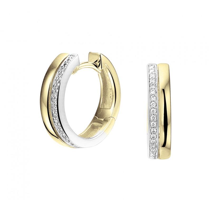gut attraktive Mode tolle Auswahl Creolen met diamant bicolor