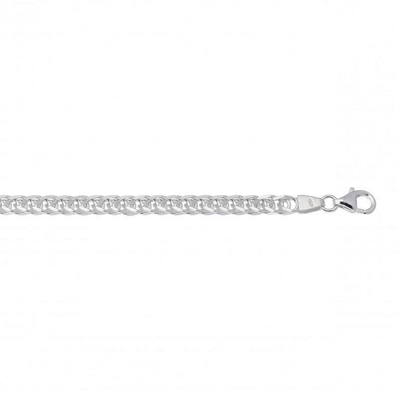 Dames armband met gourmet schakels van zilver