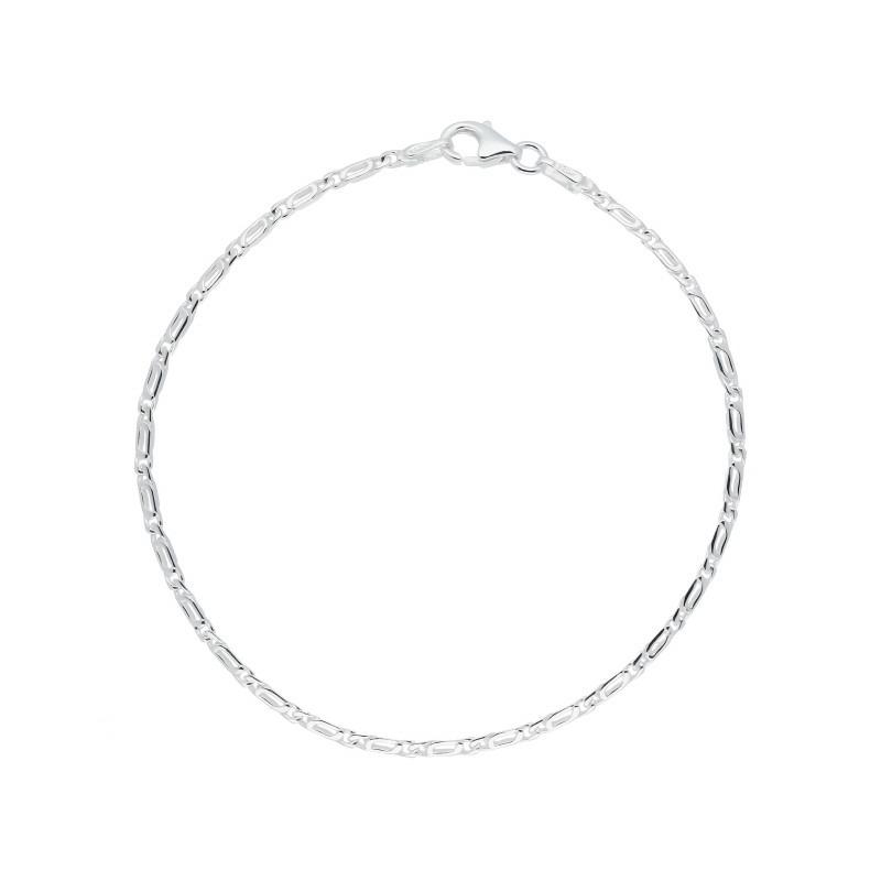 Fantasie armband van zilver 19 cm