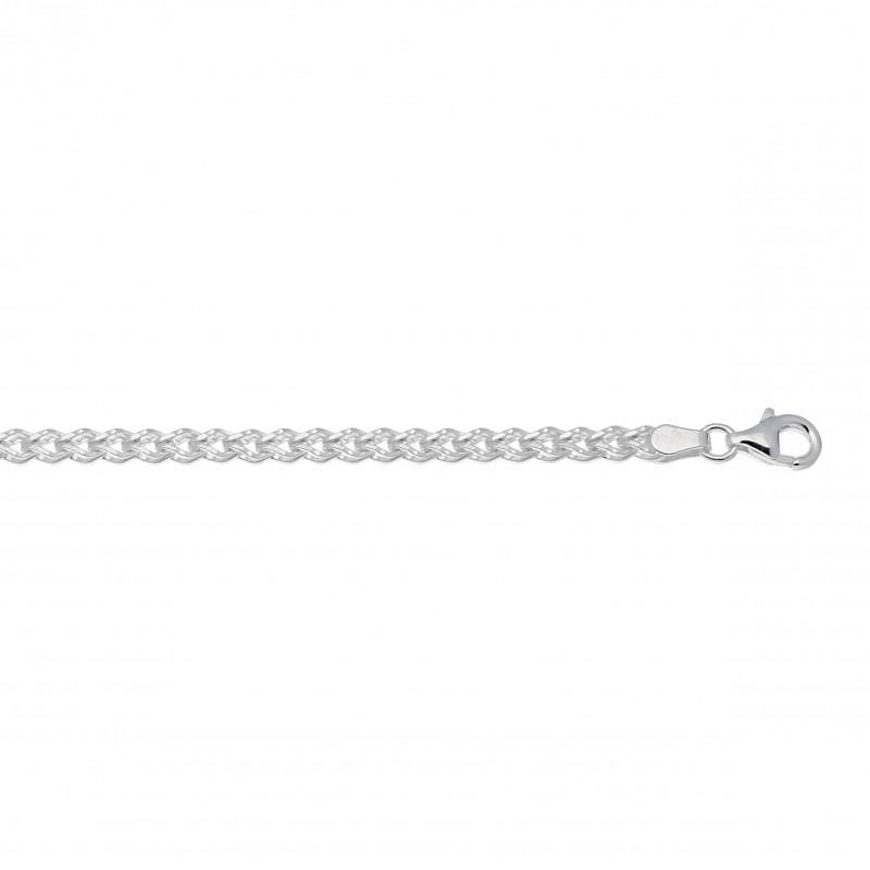 Gevlochten fantasie schakelarmband zilver voor dames
