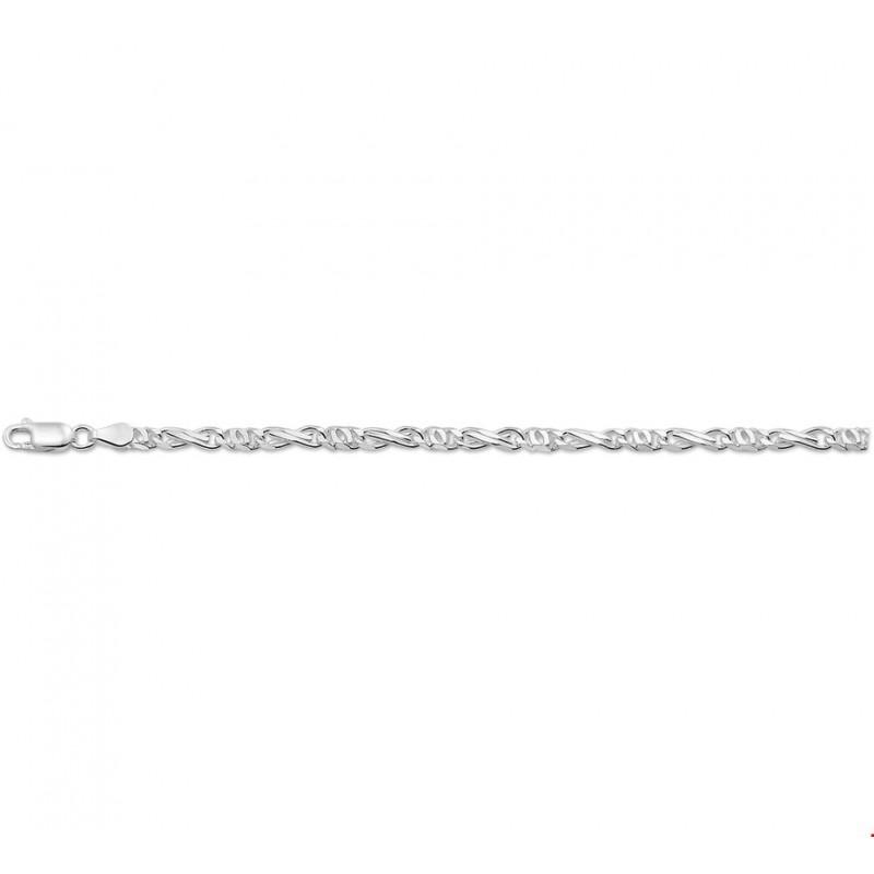 Valkenoog zilveren schakelarmbandje 19 cm